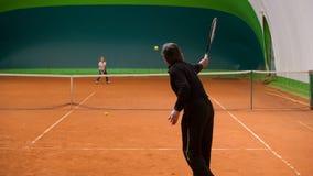 Tennislehrer Stockfoto