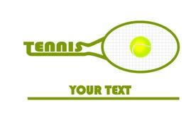 Tennislogo med tennisbollen Fotografering för Bildbyråer