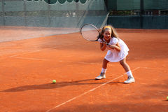 Tennismädchen Stockfotos