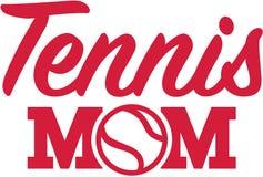 Tennismamma royalty-vrije illustratie