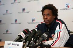 tennisman法国gael的monfils s 免版税库存照片