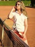 Tennismode, Kleidung, Abnutzung lizenzfreies stockfoto