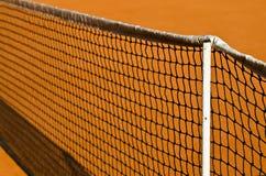Tennisnetz und -lehm Lizenzfreies Stockfoto
