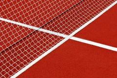 Tennisnetz und -linien Lizenzfreies Stockfoto