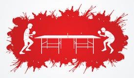 Tennispaddel und -Klingeln des Klingelns Pong Stockfoto