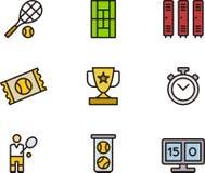 Tennispictogrammen Royalty-vrije Stock Afbeeldingen