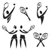 Tennispictogrammen Stock Foto
