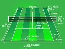 Tennisplatzgrün lizenzfreie abbildung