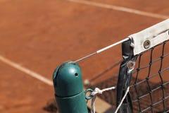 Tennispost en netto royalty-vrije stock foto