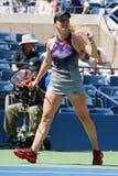 Tennisprofi Elina Svitolina von Ukraine in der Aktion während ihres Matches 2017 der US Open-zweiten Runde Lizenzfreies Stockfoto