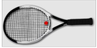 Tennisracket Royaltyfria Bilder