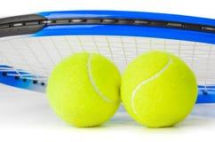 Tennisracket en ballen Royalty-vrije Stock Afbeelding