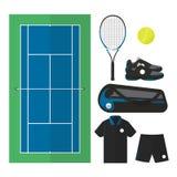 Tennissaker 001 stock illustrationer