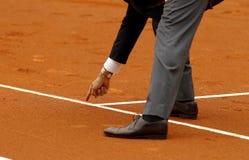 Tennisscheidsrechter Stock Foto