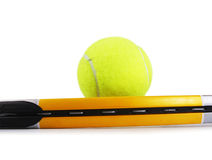 Tennisschläger Stockbild