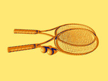 Tennisschläger Lizenzfreie Stockfotos