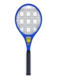 Tennisschläger und -kugel Wiedergabe 3d Lizenzfreie Stockbilder