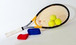 Tennisschläger, Verband lizenzfreie stockbilder