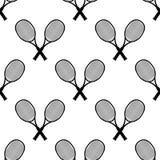 Tennisschl?ger, Vektorillustration Tennisentwurf ?ber wei?em Hintergrund Sport, Eignung, T?tigkeitsvektordesign Nahtloses Muster lizenzfreie abbildung