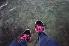 Tennisschoenen Stock Afbeelding
