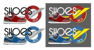 Tennisschoenen logotype Stock Fotografie