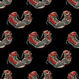 Tennisschoenen naadloos patroon, Royalty-vrije Stock Afbeeldingen