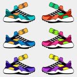 tennisschoenenembleem, de prijs van schoenen royalty-vrije illustratie