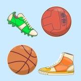 Tennisschoenenpictogram in vlakke die stijl op witte achtergrond wordt geïsoleerd De voorraad vectorillustratie van het schoenens Stock Afbeeldingen