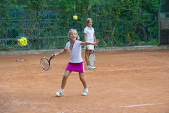 Tennisschool Stock Foto