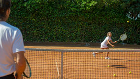 Tennisschool Stock Foto's