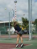 Tennisschool openlucht Royalty-vrije Stock Foto's