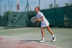 Tennisschool openlucht Royalty-vrije Stock Afbeelding