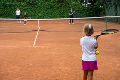 Tennisschule Lizenzfreie Stockfotos