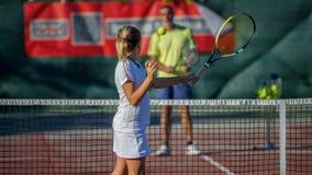 Tennisschule Stockbild