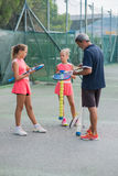 Tennisschule im Freien Lizenzfreie Stockfotografie