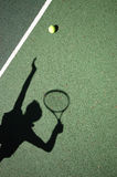 TennisServe Stockbild