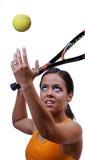 TennisServe Lizenzfreies Stockfoto