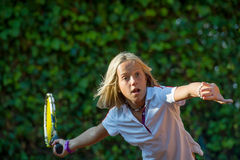 Tennisskola Royaltyfria Bilder