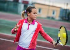 Tennisskola Fotografering för Bildbyråer