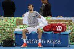 Tennisspelare Grigor Dimitrov Royaltyfri Fotografi