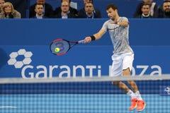 Tennisspelare Grigor Dimitrov Arkivfoton