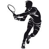 Tennisspelare kontur Royaltyfri Fotografi