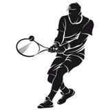 Tennisspelare kontur Royaltyfri Foto