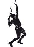 Tennisspelare kontur Royaltyfri Bild