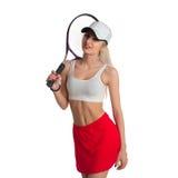 Tennisspelare med racket Royaltyfria Foton