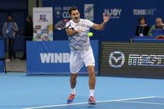 Tennisspelare Nenad Zimonjic Royaltyfri Bild