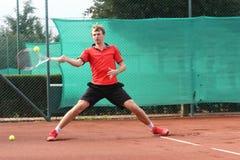 Tennisspelare (ung man) Arkivbild