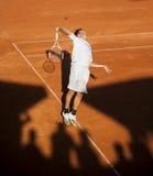 Tennisspelaren Arkivfoton