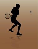 Tennisspieler der jungen Frau Lizenzfreie Stockfotos