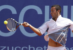 Tennisspieler Gianluca-Naso (ITA) Lizenzfreies Stockfoto